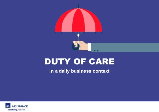 Duty Of Care In A Daily Business Context