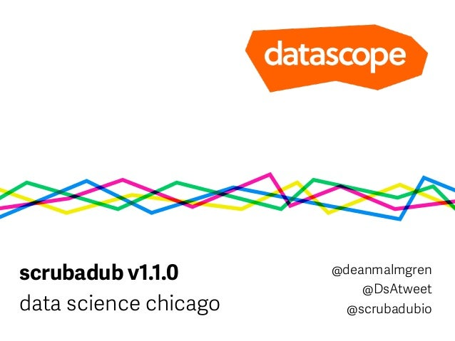 scrubadub v1.1.0 data science chicago @deanmalmgren @DsAtweet @scrubadubio