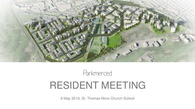 RESIDENT MEETING 9 May 2016, St. Thomas More Church School