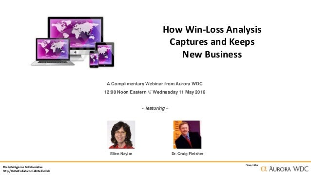The Intelligence Collaborative http://IntelCollab.com #IntelCollab Powered by How Win-Loss Analysis Captures and Keeps New...