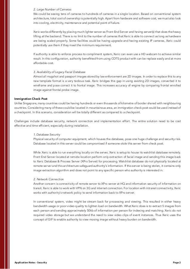 xeric security application notes