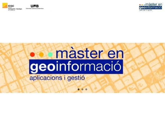 20 anys formant professionals de la geoinformació