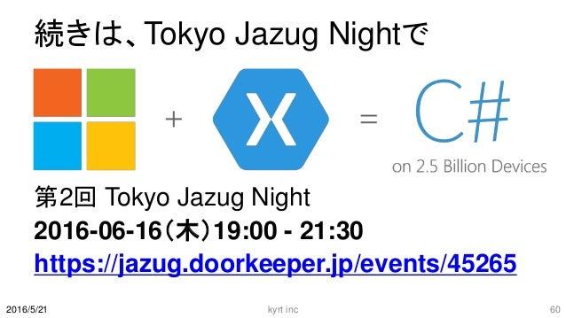 続きは、Tokyo Jazug Nightで 第2回 Tokyo Jazug Night 2016-06-16(木)19:00 - 21:30 https://jazug.doorkeeper.jp/events/45265 kyrt inc ...
