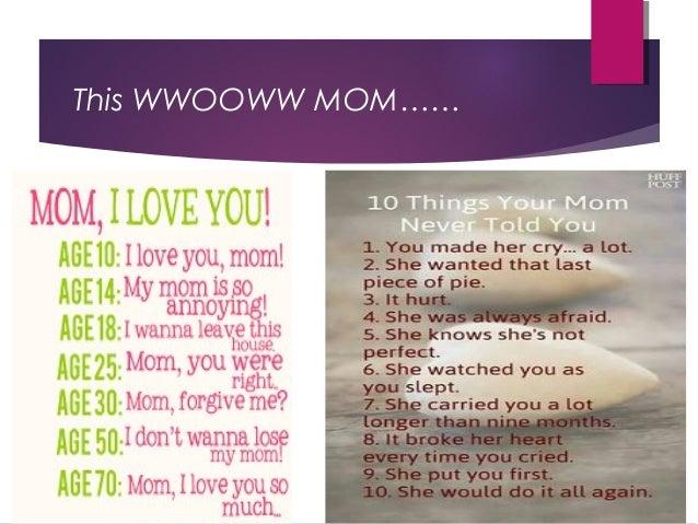 Church Sermon: WWOOWW Mom!