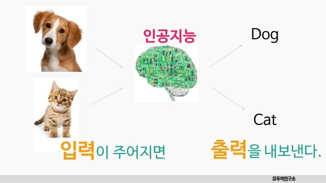 Dog 모두의연구소 Cat 입력이 주어지면 출력을 내보낸다. 인공지능