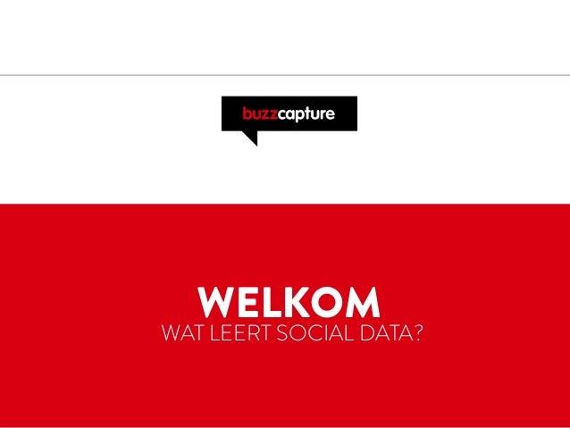 WELKOM WAT LEERT SOCIAL DATA?