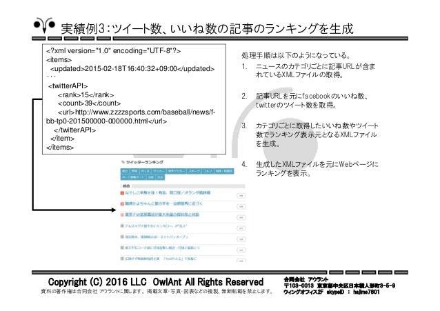 合同会社 アウラント 〒103-0013 東京都中央区日本橋人形町3-5-9 ウィングオフィス2F skypeID : hajime7801 Copyright (C) 2016 LLC OwlAnt All Rights Reserved 資...