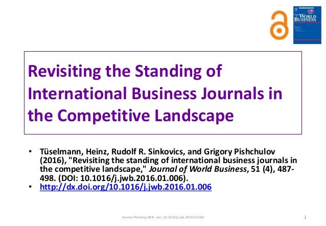 ib journal ranking jwb 2016 rh slideshare net journal of world business author guidelines Poetry Journal Submissions