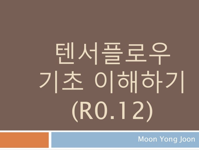 텐서플로우 기초 이해하기 (R0.12) Moon Yong Joon