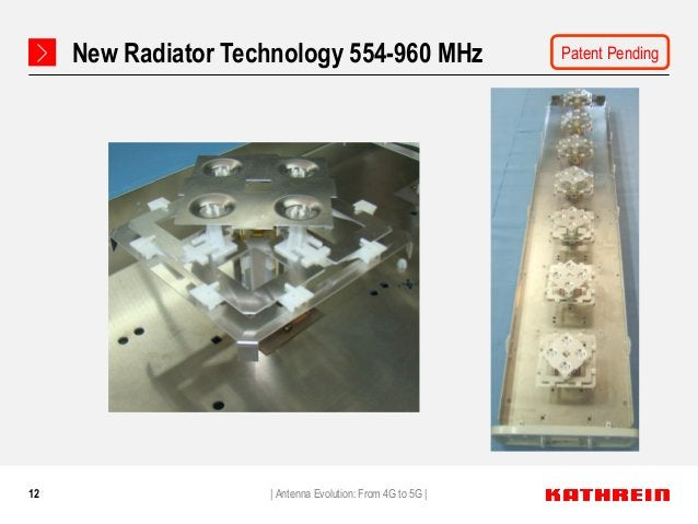 12 New Radiator Technology 554-960 MHz   Antenna Evolution: From 4G to 5G   Patent Pending