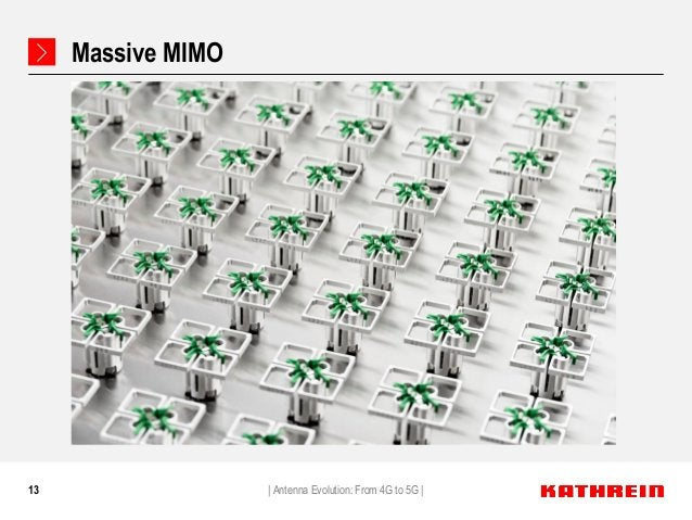 13 Massive MIMO   Antenna Evolution: From 4G to 5G  