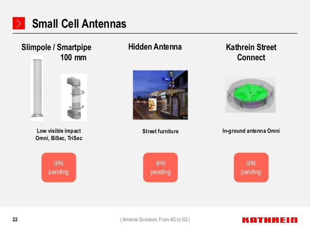 22 Small Cell Antennas Slimpole / Smartpipe 100 mm Low visible impact Omni, BiSec, TriSec In-ground antenna Omni Kathrein ...