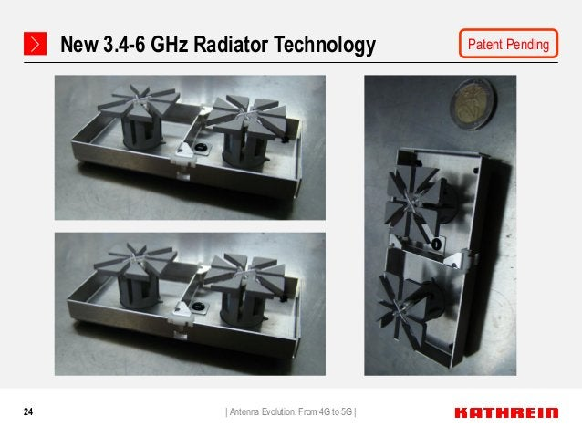 24 New 3.4-6 GHz Radiator Technology   Antenna Evolution: From 4G to 5G   Patent Pending