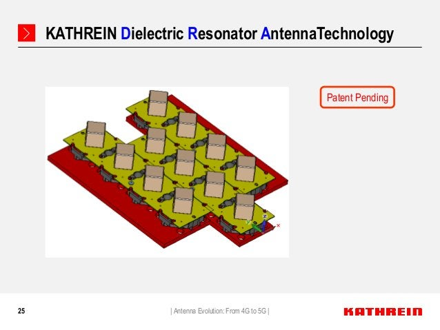 25 KATHREIN Dielectric Resonator AntennaTechnology   Antenna Evolution: From 4G to 5G   Patent Pending