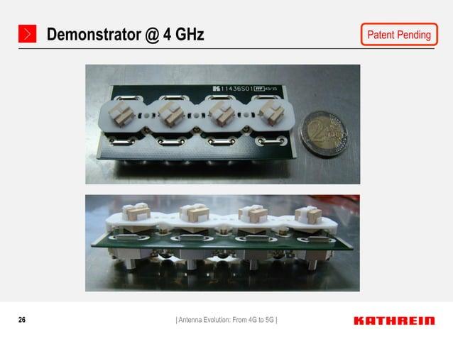 26 Demonstrator @ 4 GHz   Antenna Evolution: From 4G to 5G   Patent Pending