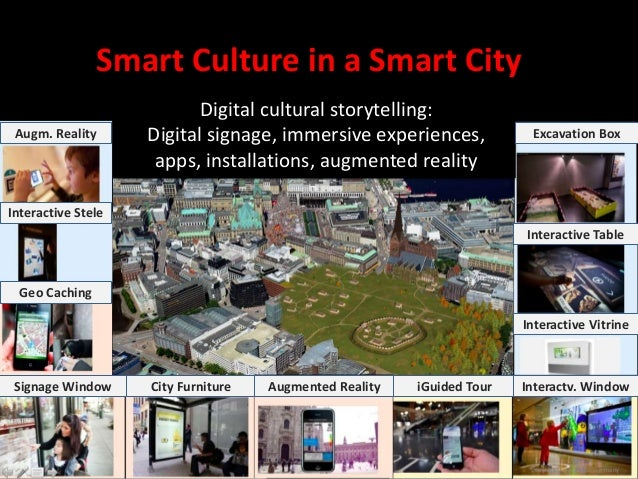 Smart Culture in a Smart City Copyright Living Labs Germany Digital cultural storytelling: Digital signage, immersive expe...