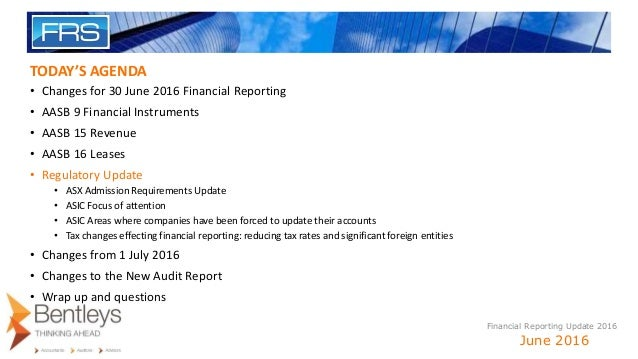 aasb 117 General purpose financial statements: 3 new accounting standards financial reporting in australia faces big changes when three new accounting standards from the australian accounting standards board lessor accounting under aasb 16 remains largely unchanged from its predecessor aasb 117.