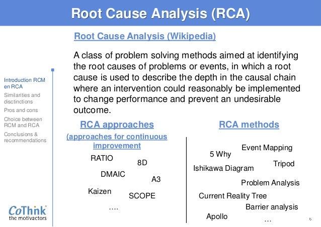 20160704 rv presentation rca versus rcm ishikawa diagram kaizen
