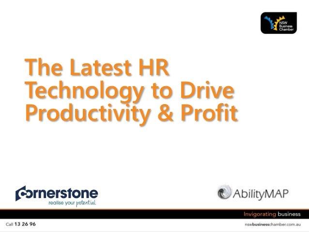 The Latest HR Technology to Drive Productivity & Profit