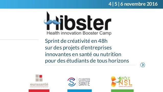 Sprint de créativité en 48h sur des projets d'entreprises innovantes en santé ou nutrition pour des étudiants de tous hori...