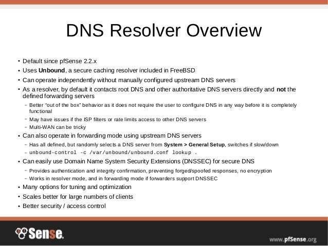 Providing Local DNS with pfSense - pfSense Hangout August 2016