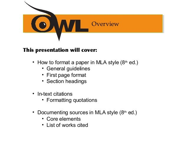 mla format 8th edition
