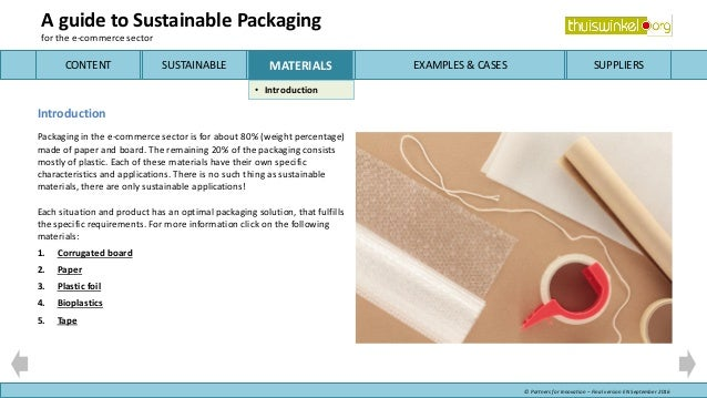 Guide Sustainable Packaging for e-commerce
