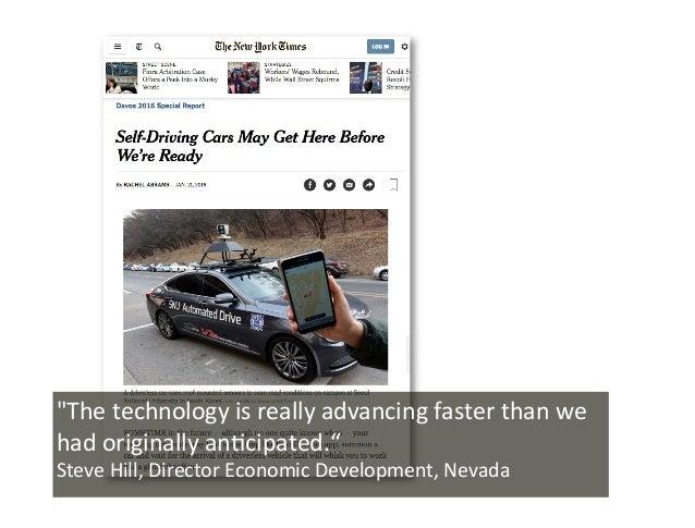 "Lösung ""Thetechnologyisreallyadvancingfasterthanwe hadoriginallyan0cipated."" SteveHill,DirectorEconomicDeve..."