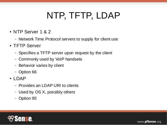 DHCP Server - pfSense Hangout September 2016