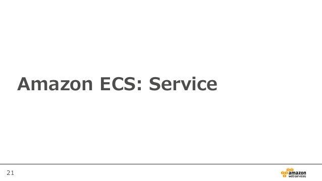 21 Amazon ECS: Service