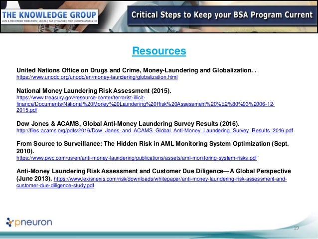 aml program template - webinar slides critical steps to keep your bsa program