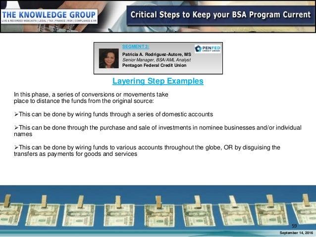 webinar slides critical steps to keep your bsa program current rh slideshare net