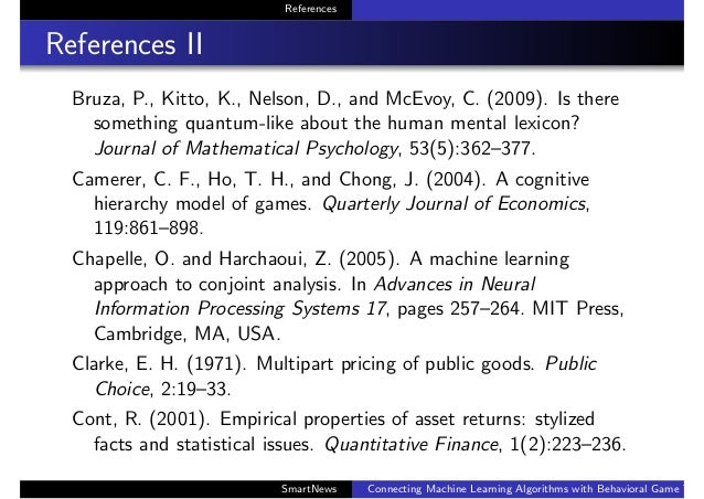 References References II Bruza, P., Kitto, K., Nelson, D., and McEvoy, C. (2009). Is there something quantum-like about th...