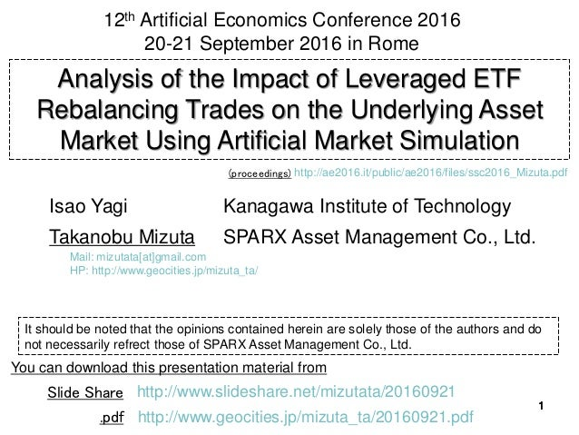 1111 Analysis of the Impact of Leveraged ETF Rebalancing Trades on the Underlying Asset Market Using Artificial Market Sim...