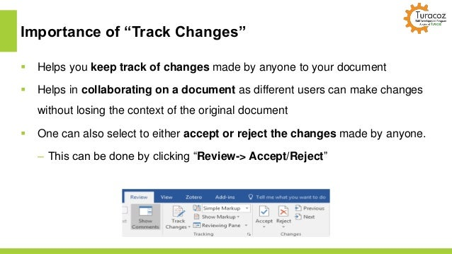 how to turn off word track changes