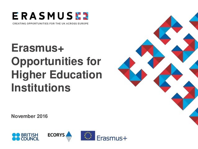 Erasmus+ Opportunities for Higher Education Institutions November 2016