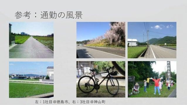 参考:通勤の風景 左:1社目@徳島市、右:3社目@神山町