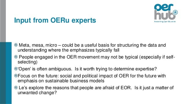 The Open Research Agenda (Oeru)
