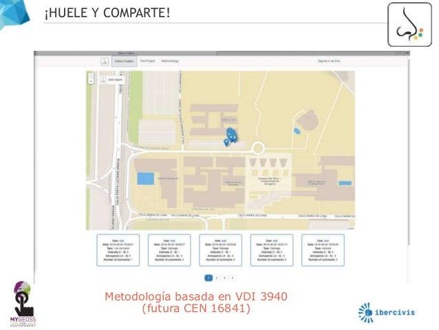 ¡HUELE Y COMPARTE! 8 Metodología basada en VDI 3940 (futura CEN 16841)