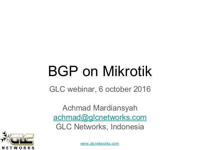 BGP on mikrotik