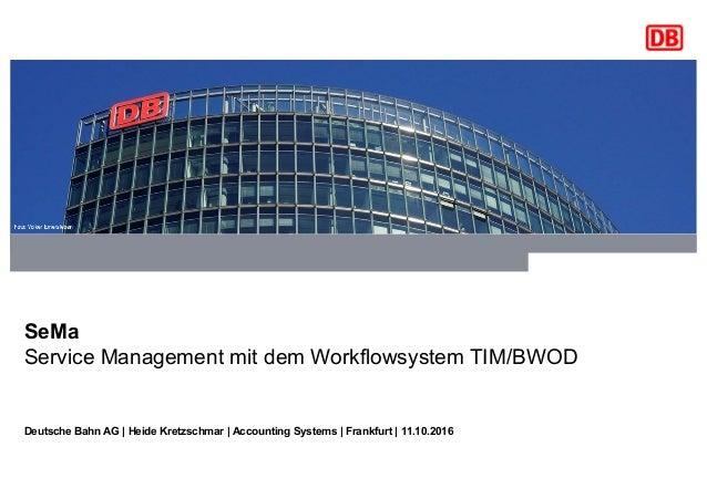 Für externe Präsentationen bitte immer eine Titelfolie mit der Ressort-Farbe verwenden. SeMa Service Management mit dem Wo...