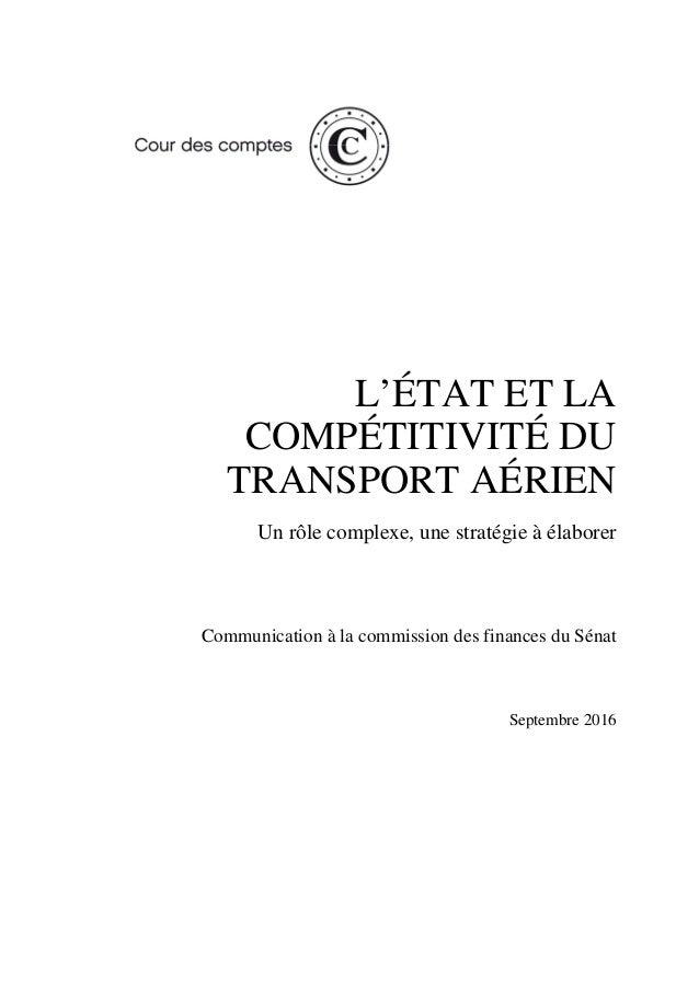 20161012 Rapport Competitivite Transport Aerien