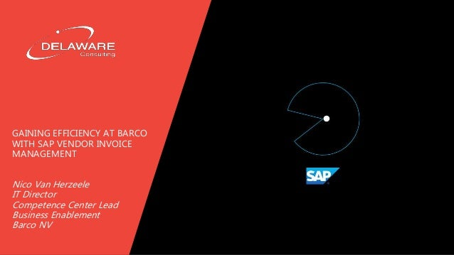 Gaining efficiency at Barco with SAP Vendor Invoice