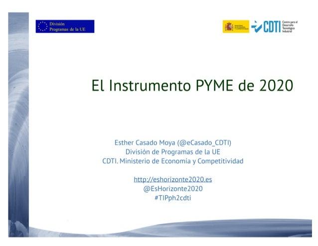 20161025 Burgos Instrumento PYME de H2020