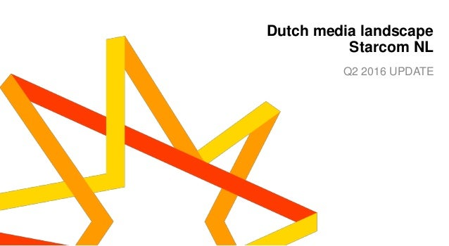 1 Dutch media landscape Starcom NL Q2 2016 UPDATE