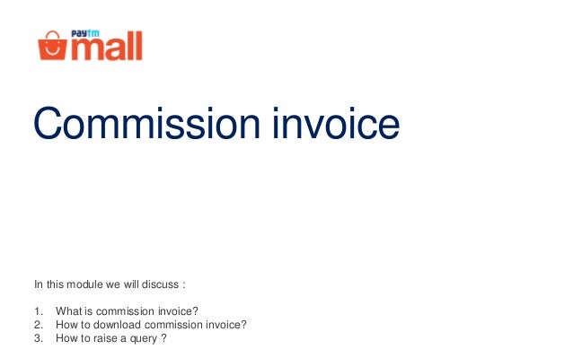 commision invoice