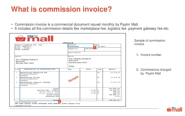 Payments Commission Invoice