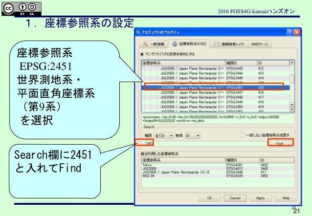 20161031 foss4gkansai handson QGISによる地域分析入門