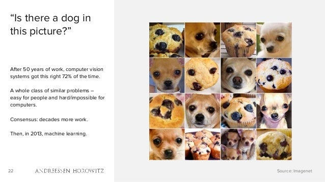 """22 """"Is there a dog in this picture?"""" After 50 years of work, computer vision systems got this right 72% of the time. A who..."""