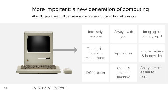 38 More important: a new generation of computing After 30 years, we shift to a new and more sophisticated kind of computer...
